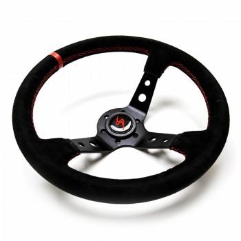 DriftShop Steering Wheel 350mm, (90 mm Deep), Suede